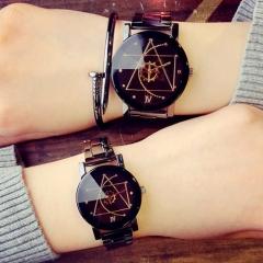 Vanlentine Gift-1Set/2Pcs Navigation Compass Couple Quartz Watches black & black