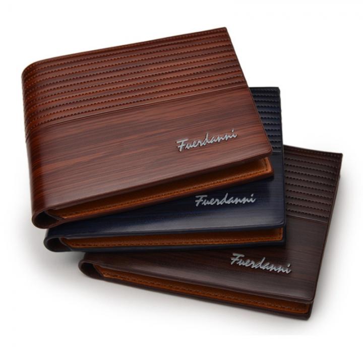 Vanlentine Gift-Vintage Men Wallet-Leather Luxury Short Male Clutch Wallet brown one size