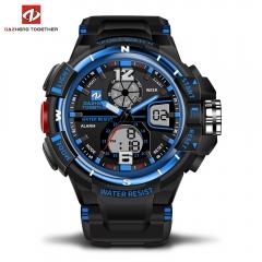 DZ LED Digitale Quartz Militaire Waterproof Sports Watch Digital quartz clock  gift men and women blue