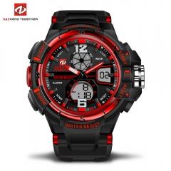 DZ LED Digitale Quartz Militaire Waterproof Sports Watch Digital quartz clock  gift men and women red