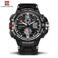 DZ LED Digitale Quartz Militaire Waterproof Sports Watch Digital quartz clock  gift men and women silver