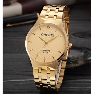 Men Gold Wrist Watches Top Brand Luxury quartz-watch golden