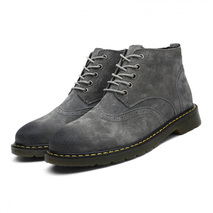 c10000050bc8f Big Size 38-47 High Quality Vintage Men Winter Warm High Top Men Boots  Brogue