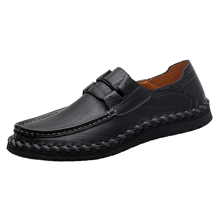 102911b157146 Genuine Cow leather Mens Loafers Moccasins Soft Leather Slip On Men's Boat Shoe  PLUS SIZE 38