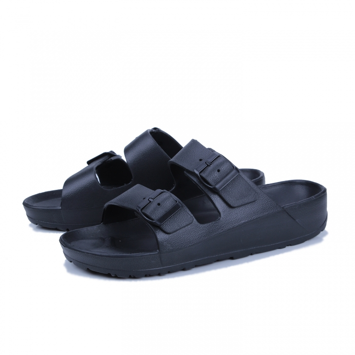 b4b304a7bb3ce 2018 New Summer Mens Sandals PU Leather Beach Shoe Men Casual Shoes Outdoor Flip  Flops Buckle