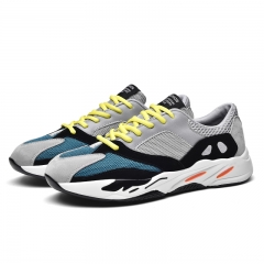 2018 New Design Cool Handsome Men Running Shoes Personality Comfortable Sneakers Athletic Anti-slip grey 44