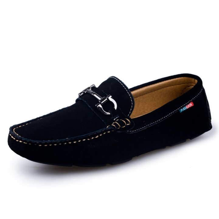 2018 Swag Horsebit Loafers Suede Male Urban Men Driving Shoes Summer Men Slip On Shoes black 38