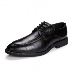 High Quality Oxford Shoes Men Brogues Shoes Lace-Up Bullock Business Dress Shoes Male Formal black 39