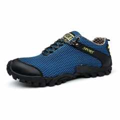 Men Hiking Shoes Waterproof Outdoor Trekking Mountain Shoes Rubber Sports Sneakers blue 43