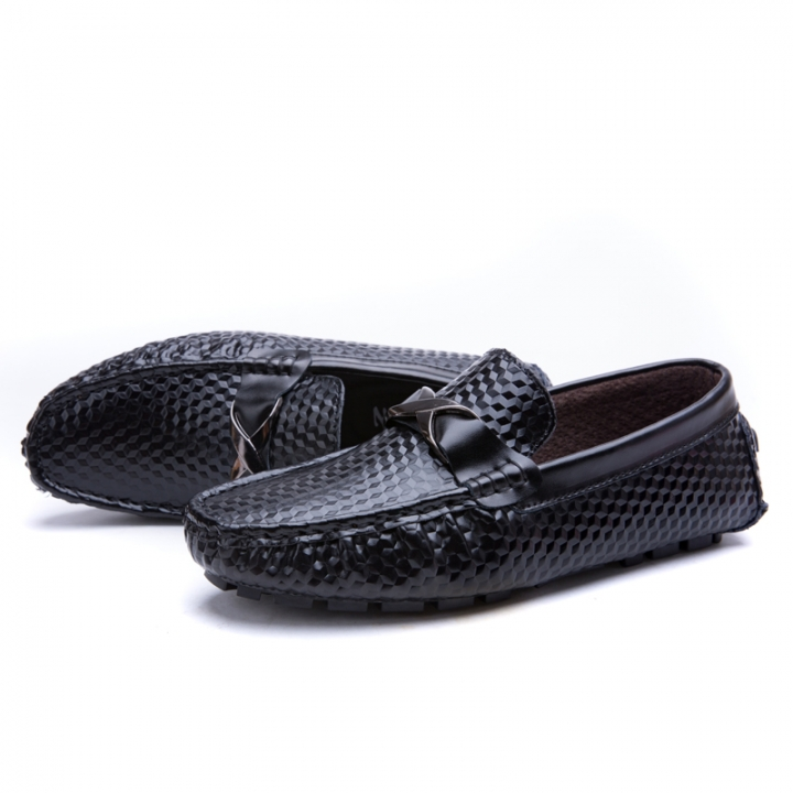 Men Flats Soft Men Loafers Cool Classical Moccasins Non-Slip Driving Casual  Shoes black 44 bf30d985dcb