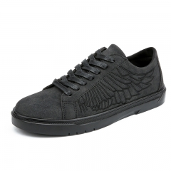 New Trend Men Shoes High Quality Men Casual Shoes Lace Up Wearable Breathable Cool Pattern grey 43