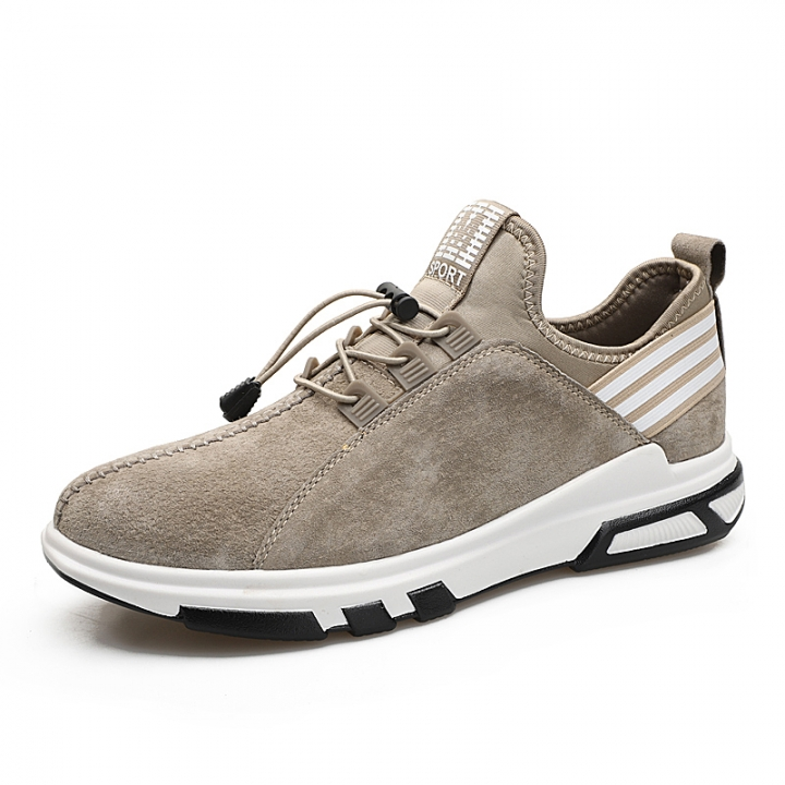 New Athletic Leather Sport Shoes for Men Running Jogging Shoes Sneakers  Autumn Tennis Shoes khaki 40 21cb65304c8