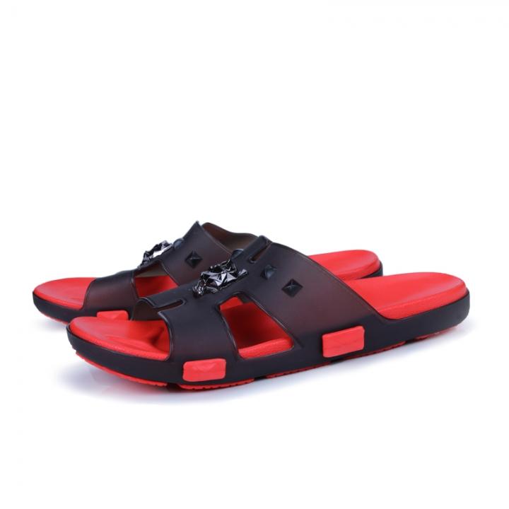 b1ddeba7713f7f Summer Men Designer Flip Flops Men s Casual Sandals Slippers Breathable  Beach Shoes Slides Beach black 40