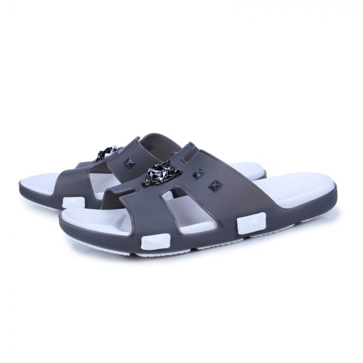 02991950f02cad Summer Men Designer Flip Flops Men's Casual Sandals Slippers Breathable  Beach Shoes Slides Beach grey 45