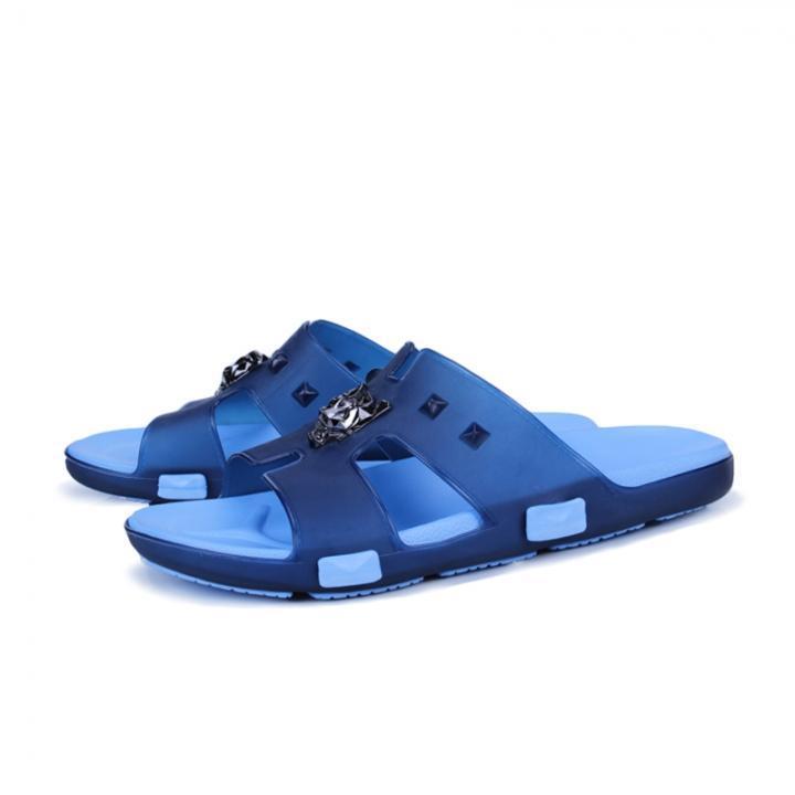 239930bd3e0303 Summer Men Designer Flip Flops Men s Casual Sandals Slippers Breathable  Beach Shoes Slides Beach blue 45