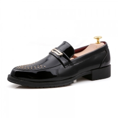 2018 New Arrival Luxury Gentleman Leather Men Shoes Men Dress Slip On Formal Oxford Business Shoes black 39