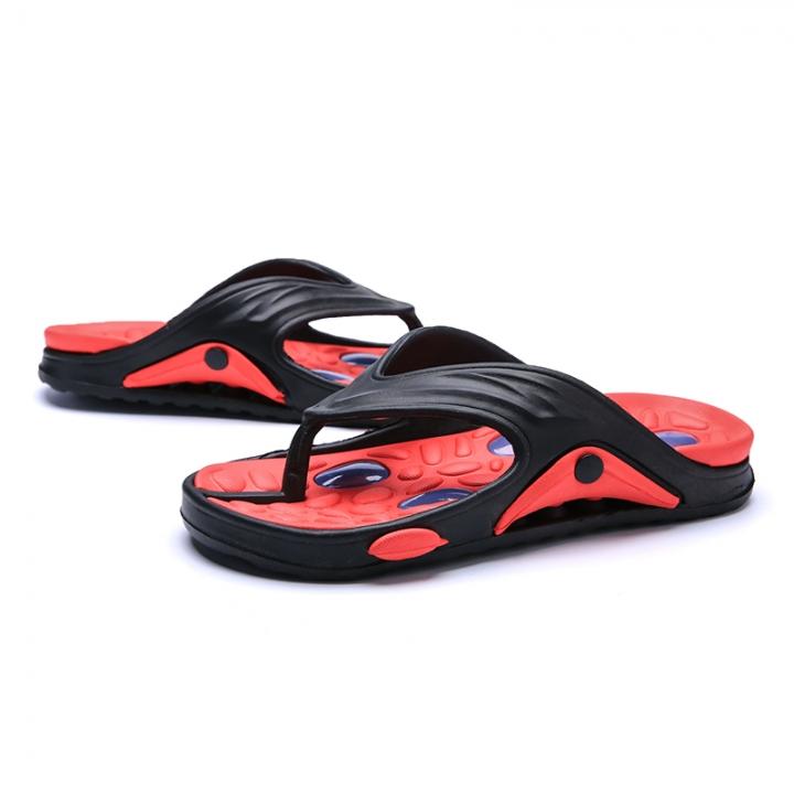 484f049f49f1 Man Flip Flops Sandals Rubber New Summer Men Beach Slides Double Buckle Shoe  Cool Massage red