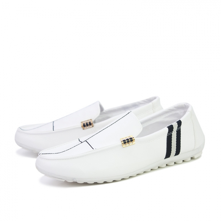 e81b0f8a71c Cool Gentleman Men Driving Shoes PU Leather Man Slip On Comfortable Dress  Loafers white 40