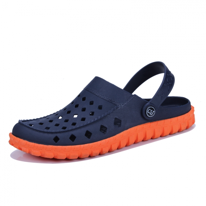 d33cfaa05ab0 Men Clogs Casual Summer Shoes Mules Clogs Brand Slippers Garden Hole Shoes  Water Beach Outdoor blue 43