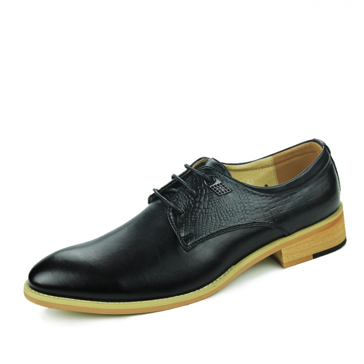 Formal Man Business Shoes Flat Classic Men Dress Shoes Genuine Leather Wingtip Carved Italian Oxford black 39