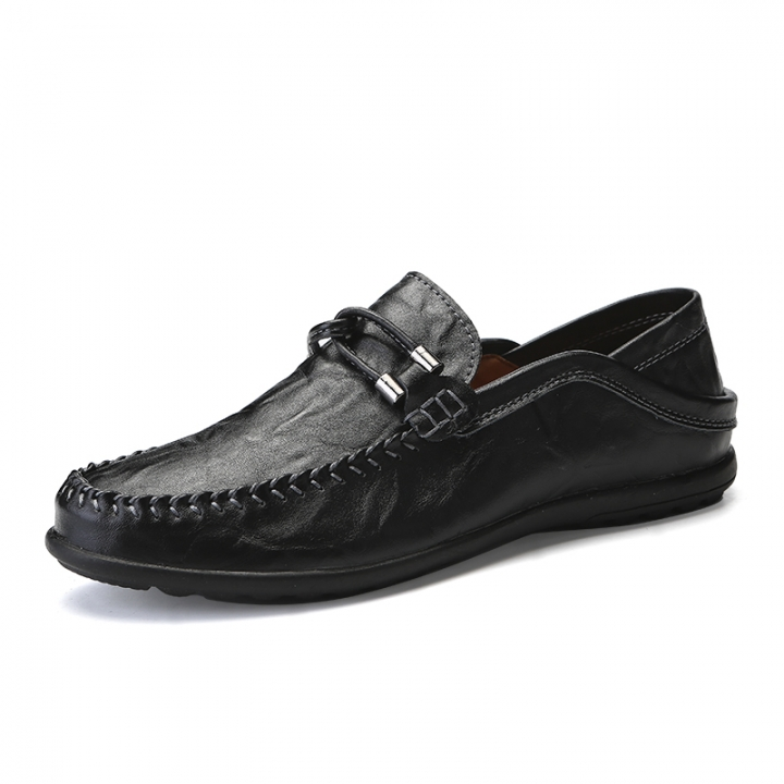 45f302fd591 Summer Soft Men Loafers Handmade Breathable Moccasins Driving Boat Shoes  Loafer Slip On black 38
