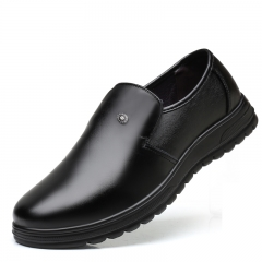 Men Shoes Business Dress Oxford Breathable Formal Wedding Footwear Handsome Office black 40