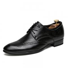 Men Dress Shoes Pointed Toe Wedding Formal Party Footwear Handsome black 39
