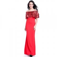 New strapless leopard pattern dress # 508 red s