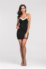 Women 's knitted sexy dress skirt # 3081 black s