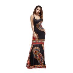 Women 's Ladies' new milk silk dress # 7126 black s