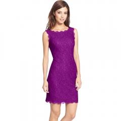 Women 's dress lace hook flowers stretch temperament MF5800 purple s