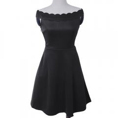 Women 's new sleeveless women' s style women 's dress MF5516 black s