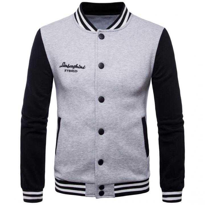Men Baseball Jacket Bomber Jacket Coat Men Sweaters Stand Collar