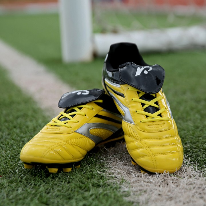 New student training long nail plate soccer shoes 26001_26002_ yellow 34