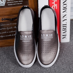 Summer superfiber leather soft hollow small white shoes D80 grey 35