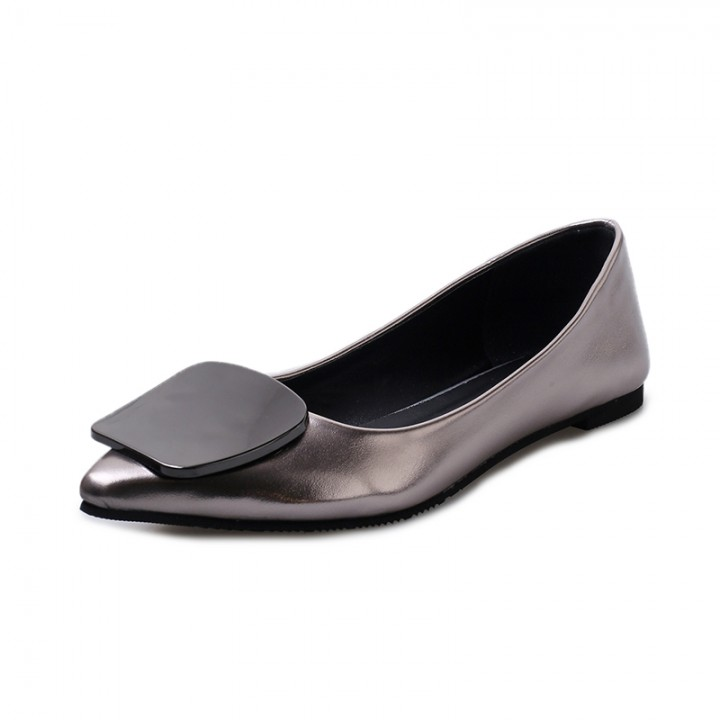 Women's shallow mouth soles flat shoes 918 champmagne 40