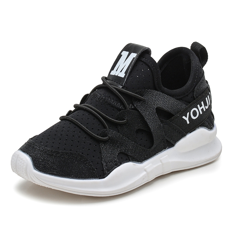 ae688e2b8199 Children boys and girls jelly shoes sports shoes L-8001 black 31 ...
