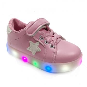 Gorgeous Led Light Up Kids Infant Star Cool Soft Sole Anti Slip Baby Boy Girl
