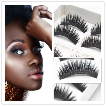5 Pairs/Set Cross Thick Hard Root False Eye Lashes Extension Natural FalseEyelashes black