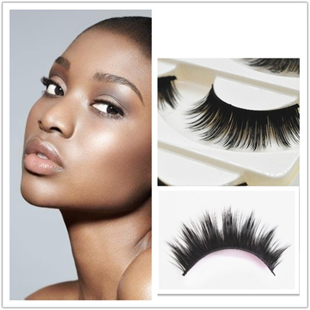 5 Pairsset Cross Thick Hard Root False Eyelashes Extension Handmade