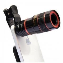 Phone Camera Lens 8xZoom Lens with Lens Clip Telescope Camera Lens Hot Sale black normal FBK