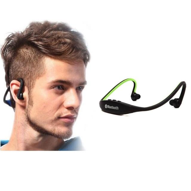 Bluetooth Headset Wireless Sports Bluetooth Earphones Headphone Black Green 107892 Kilimall Uganda
