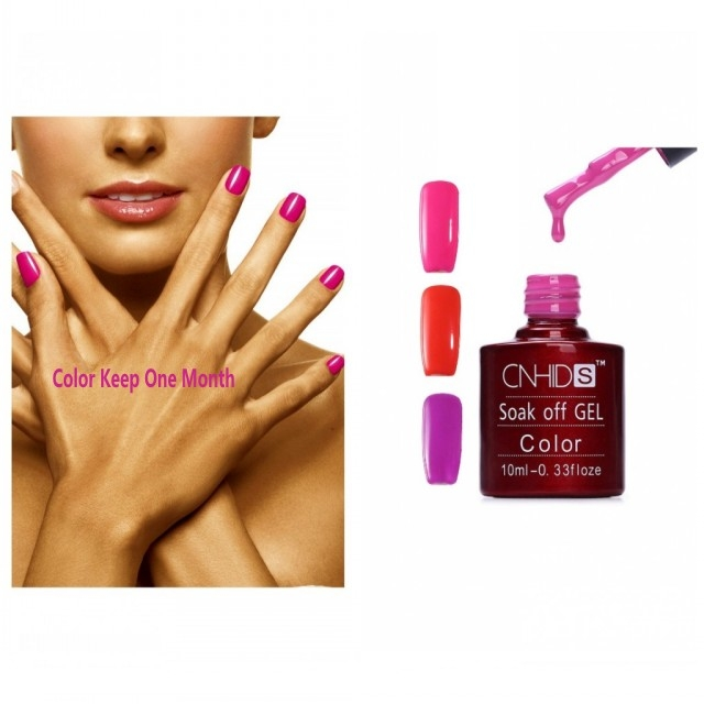 10Ml Gel Nail Polish Bright Color SoakOff LED GelPolish Glitter(3 Colors) red
