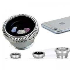 Phone Camera Lens 2In1 Phone Photography WideAngle Fisheye LensandMacro lens silver normal fbk