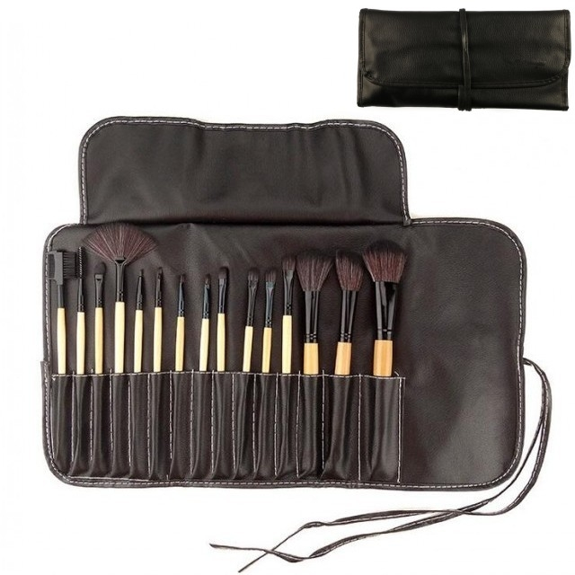 15pcs/Set Makeup Brush Powder Brush/Eye Shadow Brush/Eyebrow Brush/Lip Brush brown