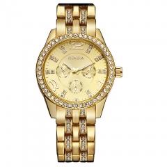 Geneva Unisex Stainless Steel Quartz Wrist Watch silver