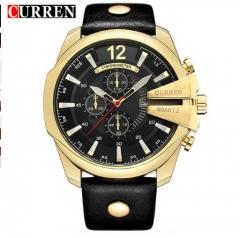 CURREN Men's Sports Quartz Watch Top Brand Luxury Designer Watch male Fashion Date gold white