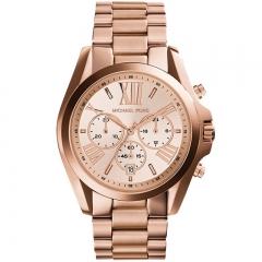 Men's Michael Kors Quartz Watch Solid Color Alloy Band Business Watch Accessory silver