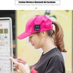Wireless Bluetooth Hat Headphone 2 in 1 Headset Man Woman Music Cap Style Earphone for Phone gules