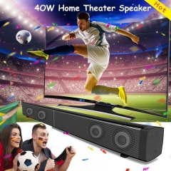 40W Home Theater Bluetooth Speaker LP-09 Wired Stereo Soundbar with Remote control TF slot black 40W LP-09